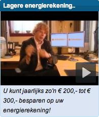 Voorbeeld van een narrowcast video op een startpagina.nl.