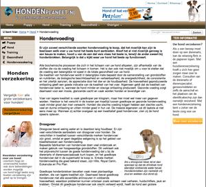 Voorbeeld van een zelf gemaakte website beheerd door Burgers Webvertising.