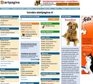 Voorbeeld van een startpagina.nl beheerd door Burgers Webvertising.